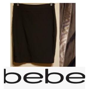Bebe | Black Pencil Skirt